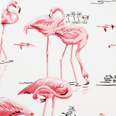 Pattern flamingo by Duralee