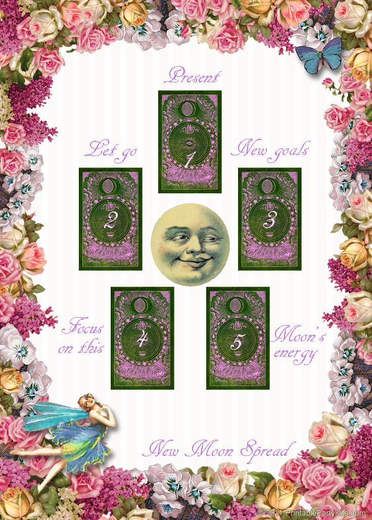 New Moon tarot spread http://imawitchywitch.tumblr.com/