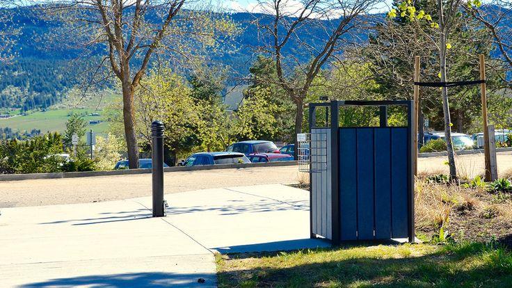 Skyline #Waste #Receptacle-Okanagan College Vernon Campus #sitefurniture #madeincanada #garbage #can