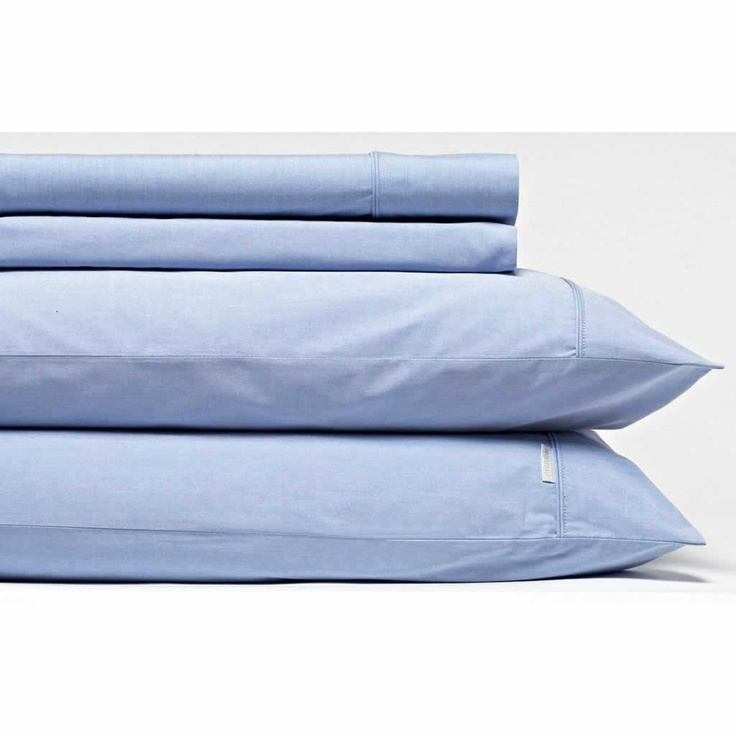 """Sheridan Pollock"" 300 thread count, blended Egyptian cotton sheet set in blue marle - $259.95 from Domayne."