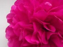 1 Mocny róż Papierowy PomPom
