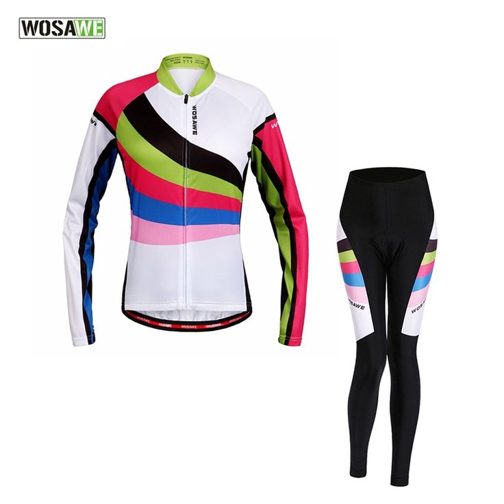 (36.66$)  Buy here - http://aivek.worlditems.win/all/product.php?id=32727931786 - WOSAWE 2016 Women's Lycra breathable Autumn cycling clothing sets long sleeve cycling jersey set cheap cycling jerseys