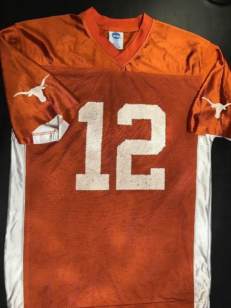 NCAA Texas Longhorns Size Adult M Football Jersey #12 McCoy Burnt Orange White    eBay