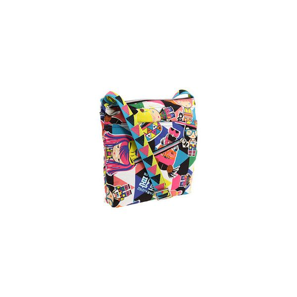 Harajuku Lovers Raver Girls Fluorescent Crossbody at Zappos.com (880 ARS) ❤ liked on Polyvore featuring bags and harajuku