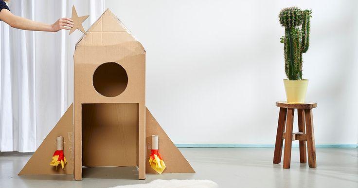 C&A te enseña a construir paso a paso un grandioso cohete de cartón para tus pequeños.