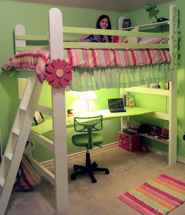 Diy Loft Bed With Desk Woodworking Projects Amp Plans