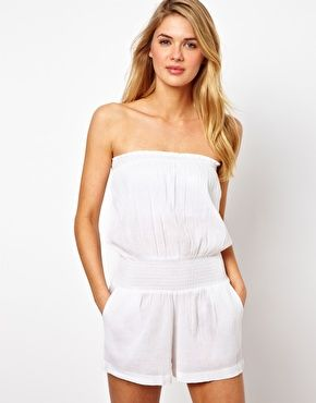 ASOS Cheesecloth Bandeau Beach Playsuit love this !!!