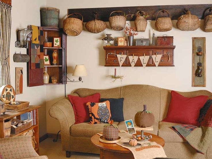 Country Sampler Autumn Interior And Baskets On Pinterest