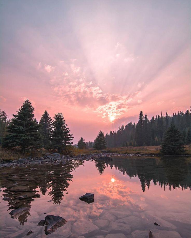 Sunset (Chester Lake, Kananaskis Country, Alberta) by Dan Cormier (@dansoutdoorlife) on Instagram