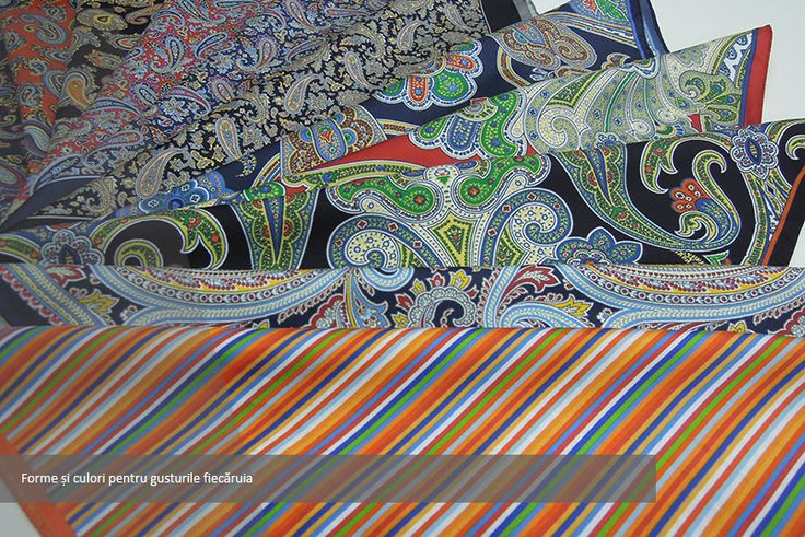 Many colors and designs - silk pocket squares by Seroussi
