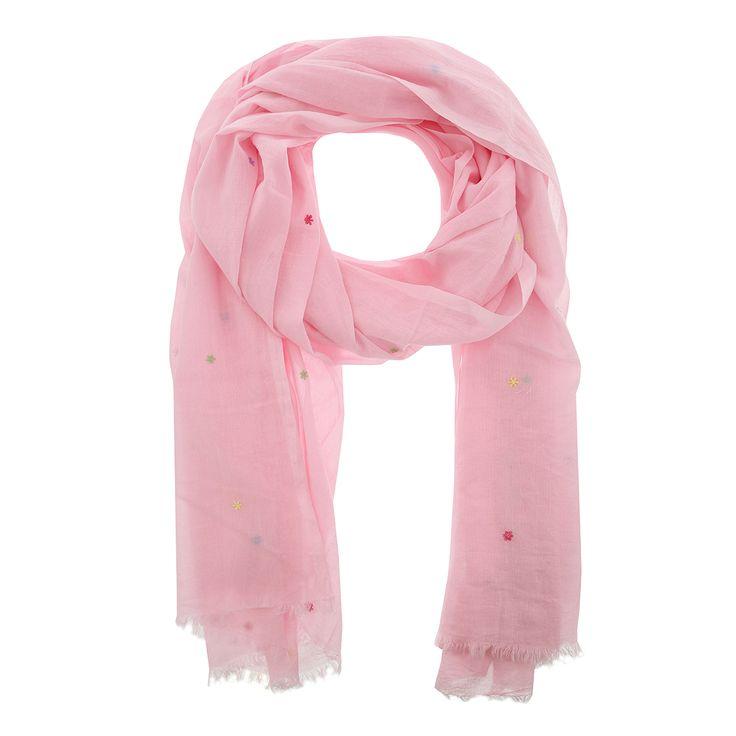 Baby roze sjaal met stippen van Otra Cosa – 1665