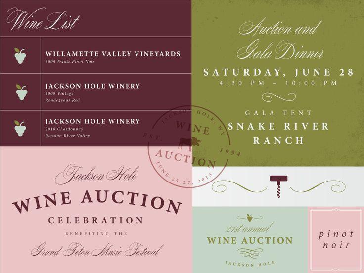 Jackson Hole Wine Auction by Jessie Farris - Dribbble