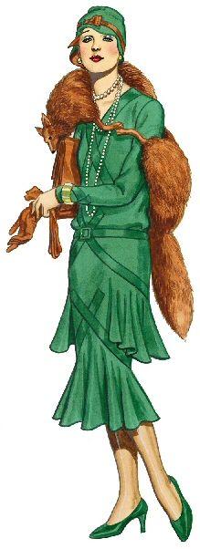 1920s Fashion Una mujer glamurosa, feliz, radiante, una mujer que llenaba de luz…