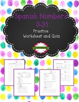 Spanish numbers 0-31 by LA SECUNDARIA  | Teachers Pay Teachers