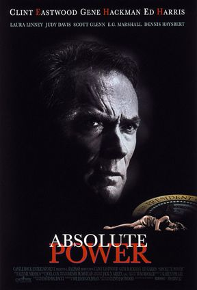 #57. Absolute Power Smart Rating: 58.07 U.S. Box Office ﴾inflation‐adjusted﴿: $73,842,400 Release Year: 1997 Role: Actor, Director  A veteran thief ﴾Clint Eastwood﴿ catches the president ﴾Gene Hackman﴿ of the United States in adultery and a murder cover‐up.