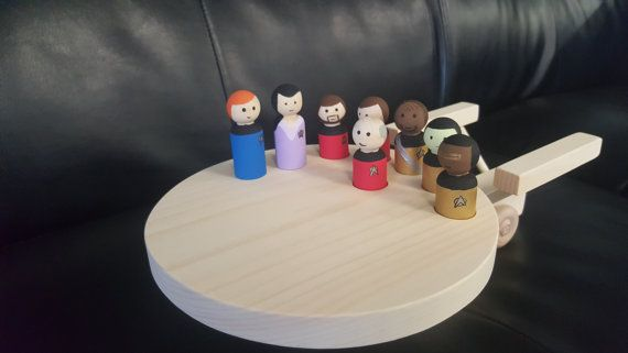 Star Trek peg people baby toys. Omg. Yes PLEASE!   Hey, I found this really awesome Etsy listing at https://www.etsy.com/listing/229904073/star-trek-star-trek-new