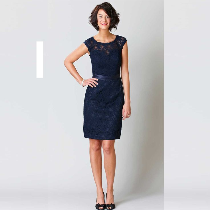 Cheap short lace bridesmaid dress, Buy Quality bridesmaid dress cap sleeve directly from China lace bridesmaid dress Suppliers: Navy Blue Short Lace Bridesmaid Dresses Cap Sleeve Knee Length Zipper Back And Button Cheap Dresses Australia Prom-dresses-cheap