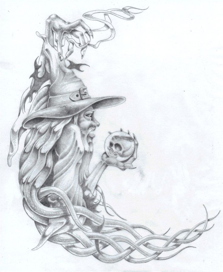 Wizard with Crystal Ball by markfellows on DeviantArt