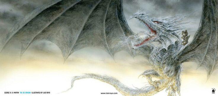 O Dragão de Gelo  Martin descreve essa obra como uma das melhores escrita por ele. É possível ver a paixão dele pela criação desse Dragão de Inverno, que não se assemelha a nenhum dragão de historias medievais. Sendo assim, é uma contribuição original de Martin para o mundo literário da fantasia.  E foi para minha surpresa, que me deparei com uma historia que se passa em uma época medieval (não parece ser Westeros) e giram em torno de uma garota, umdragão de geloe três dragões normais…