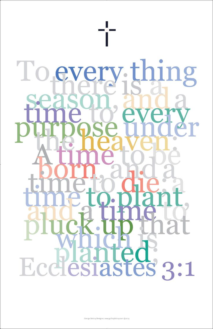 Bible art poster 19 ecclesiastes 3 1 to everything there is a
