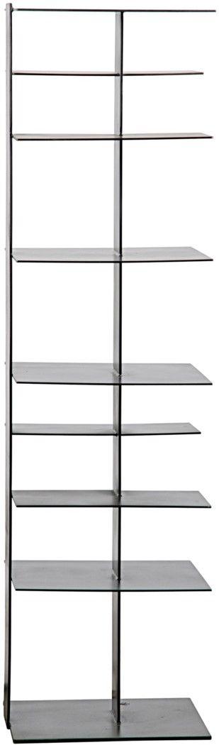 :: NOIR :: metal bookcase 18.5 x 16.5 x 60h