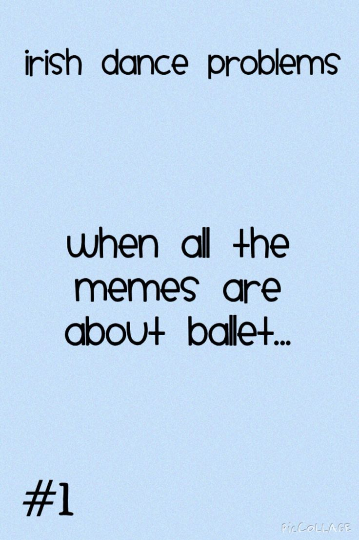 Like really why is it always Ballet???