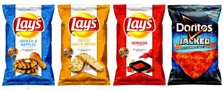 Interesting combination...New Lay's Chip Flavors, Yum!
