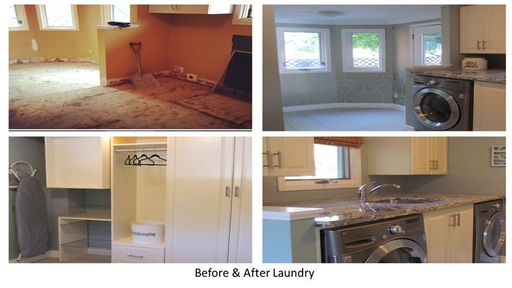 We completed this Laundry Room makeover, including the granite countertop!