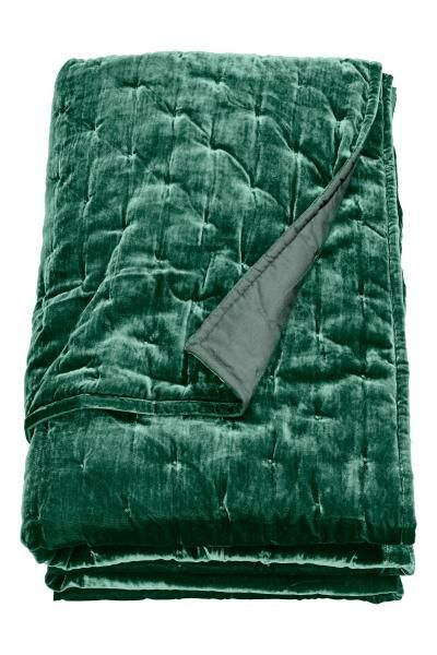 Bársony ágytakaró - Smaragdzöld - HOME | H&M HU