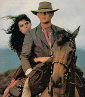 Tom Burlinson in The Man From Snowy River or Phar Lap (both great movies for horse lovers).