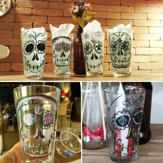Como decorar copos americanos com caneta permanente. Tema: caveira mexicana! Ideal para enfeitar uma festa temática!
