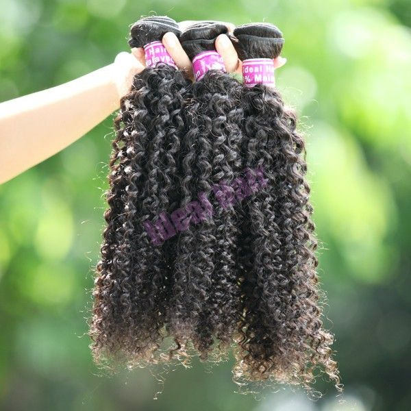 Virgin Malaysian kinky curly weave hair 4pcs lot tangle free and no shed natural…