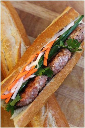 Vietnamese Pork Sausage Banh Mi Banh Mi Nem Nuong By Ravenous Couple Via Flickr