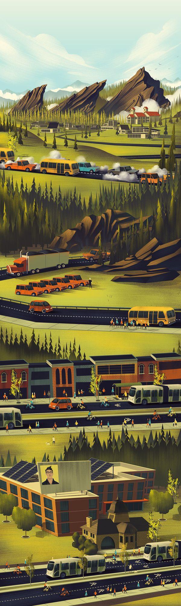 City of Boulder by Brian Miller, via Behance