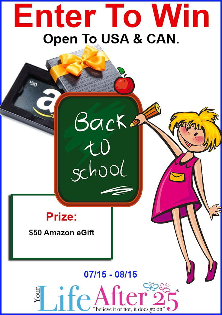 enter to win back to school amazon gift card giveaway back to back to school and gift cards. Black Bedroom Furniture Sets. Home Design Ideas