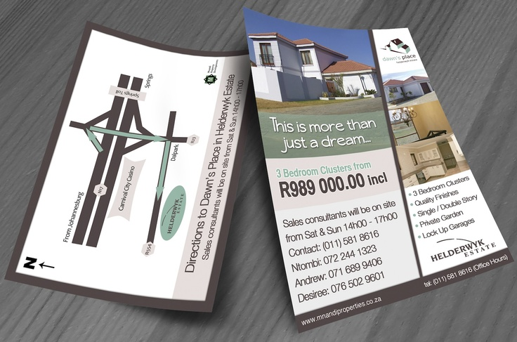 Dawns Place Flyer Design