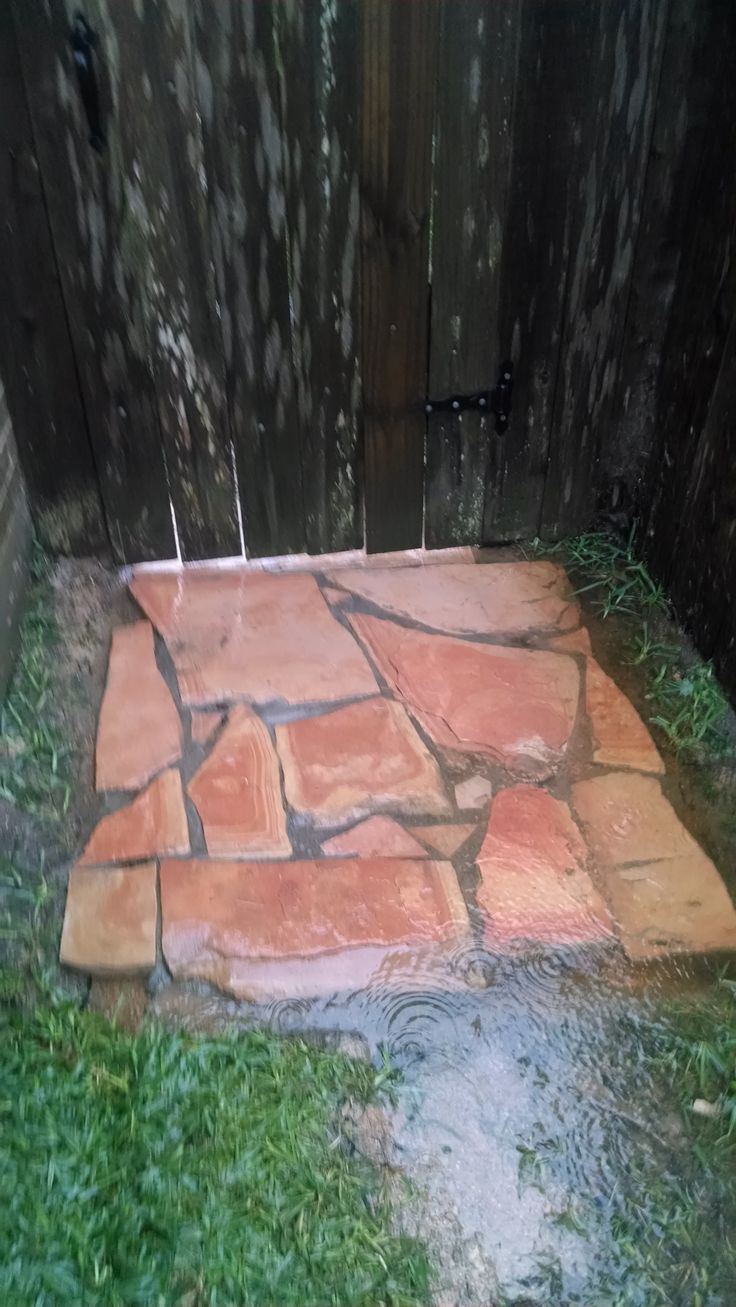 Pavers Under Gate Keeps Dogs From Digging Under Looks
