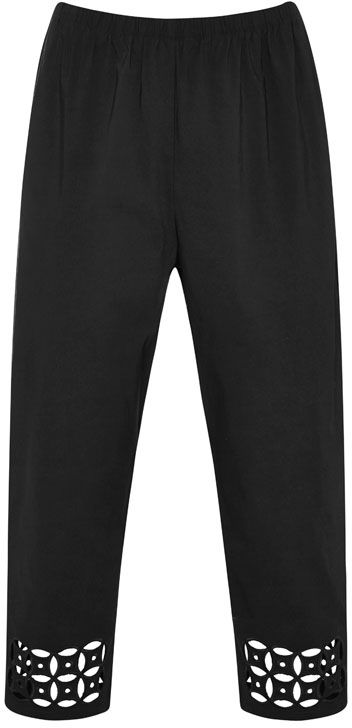 NONI + 7/8 Emb Bengaline Pant $89.95 AUD  pull on elastic waist bengaline pant with embroidered cut out detail 70% Viscose 27% Nylon 3% Elastane  Item Code: 047242