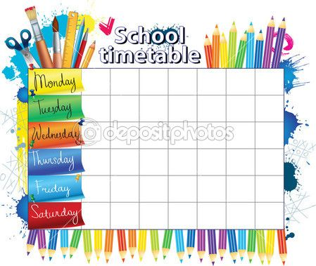Школьное расписание — Векторное изображение © Ola-Ola #6458221