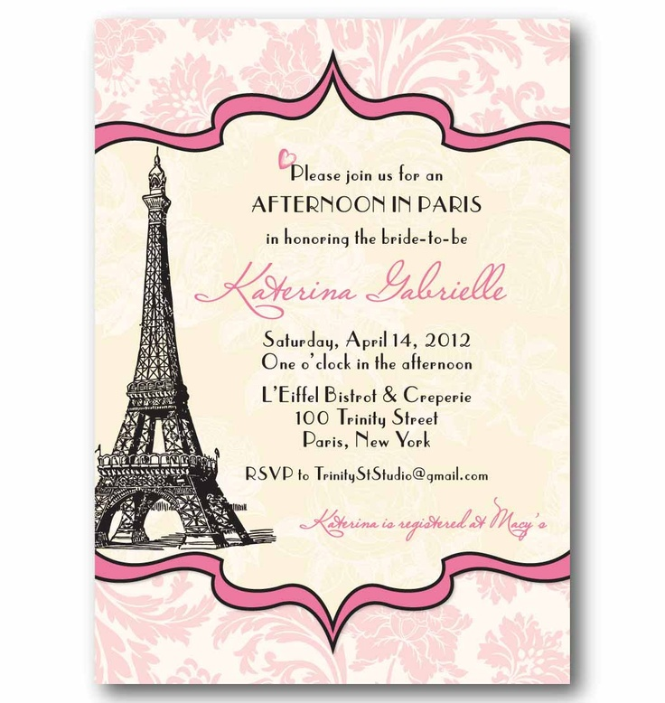 21 best paris themed bridal shower invitations images on pinterest vintage paris invitation bridal or baby shower birthday party wedding printable diy digital filmwisefo