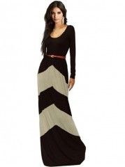 Buy Ladylike Crew Neck  Patchwork Maxi-dress online with cheap prices and discover fashion Maxi Dresses at Fashionmia.com.