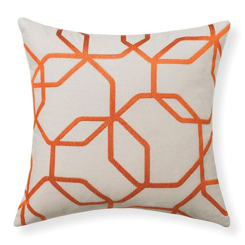 Rapee Orange Octagon Cushion With Insert