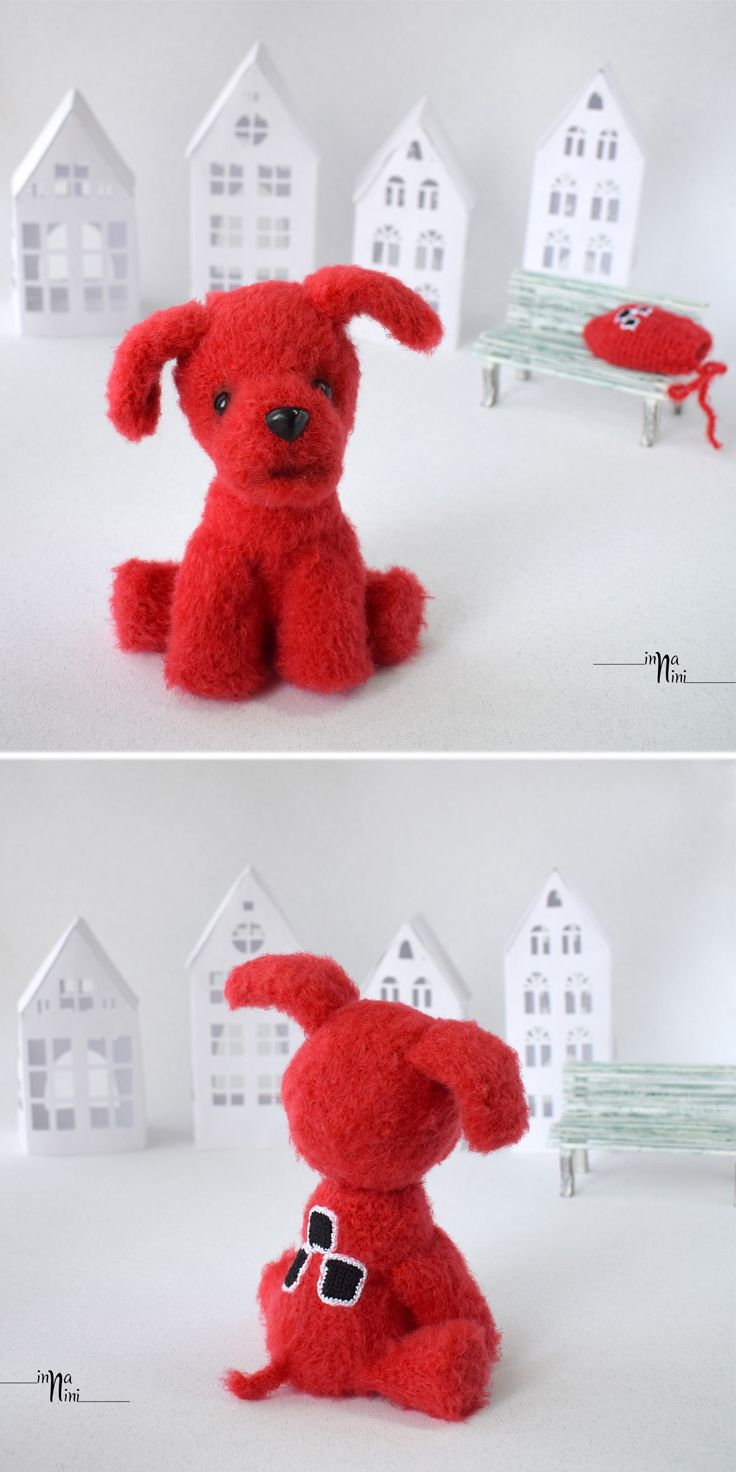 Puppy from the animated film. He was born from a mitten at the request of the girl. A red mitten - a red puppy.