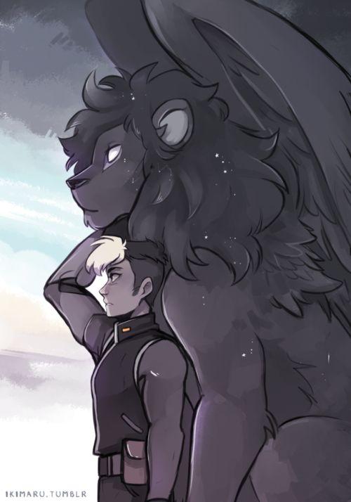Shiro and Black by ikimaru #voltron #fanart