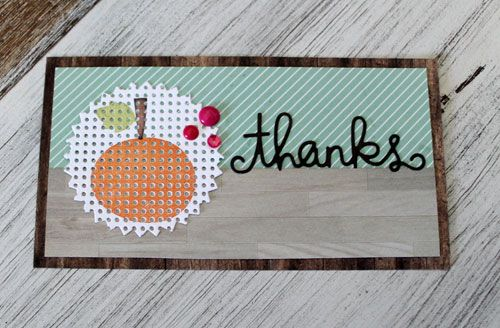 Thanks card by Kim Hughes for Paper Smooches - Pinked Circle Dies, Thanks so much Die, Ghoulfriends