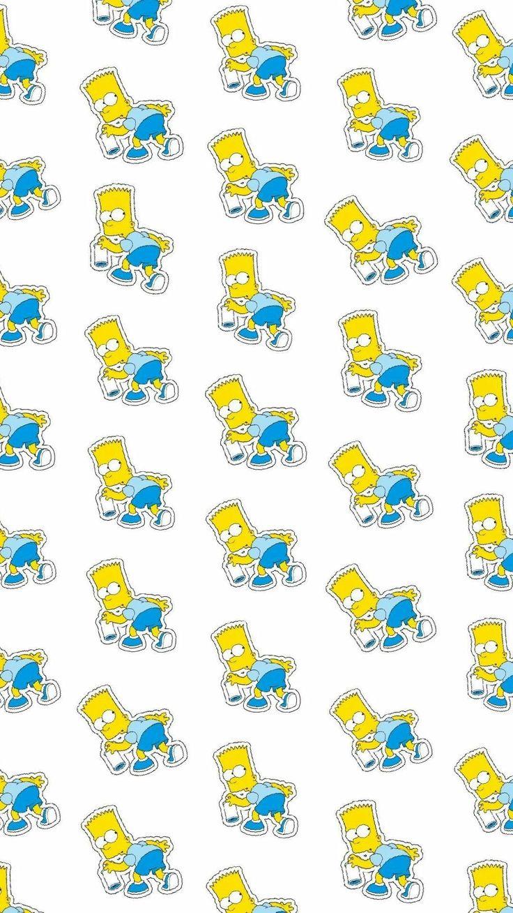 Wallpaper Simpsons Bart Full HD 4K Iphone duvar