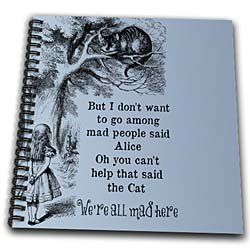 Amazon.com: Alice and Cheshire cat in tree - Alice in wonderland - Drawing Book 8 X 8 Inch: Arts, Crafts & Sewing