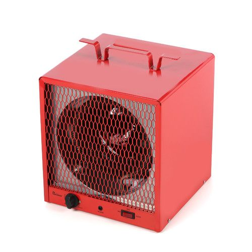 Small electric heater with thermostat