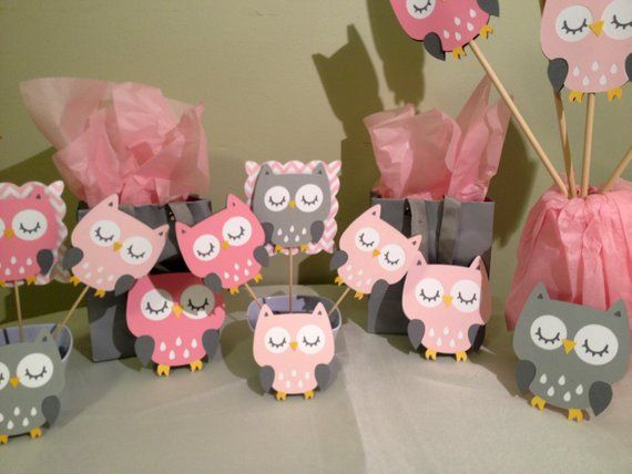 Strange Owl Baby Shower Decorations Package Owl Baby Shower Pink Interior Design Ideas Skatsoteloinfo