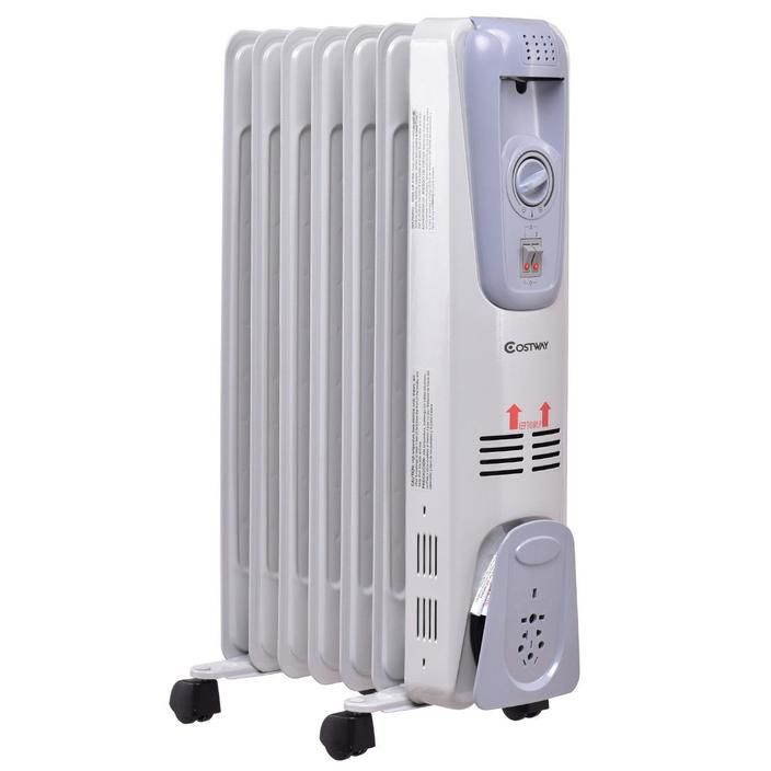 1500 W 7 Fin Electric Oil Filled Space Thermostat Heater Heater Thermostat Oil Filled Radiator Energy Efficient Heating